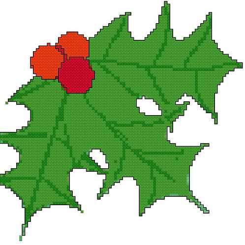 Christmas Holly Christmas Cross Stitch
