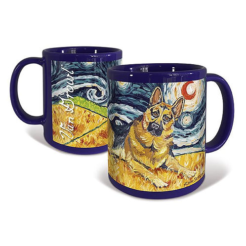 German Shepherd, Starry Night Mug