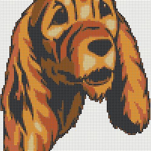English Cocker Spaniel Portrait cross stitch