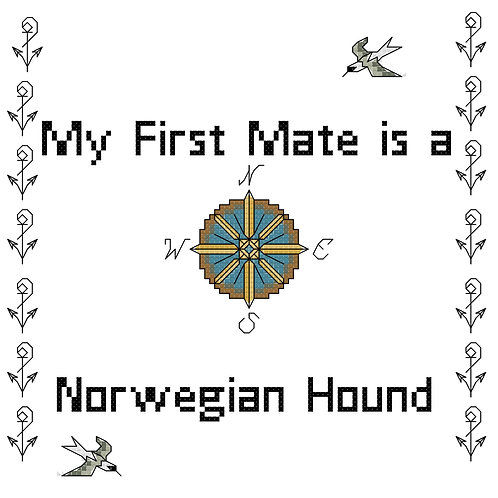 Norwegian Hound, My First Mate is a