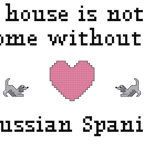 Russian Spaniel, A House is Not a Home Without