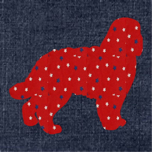Barbet Applique Patriotic Pillow