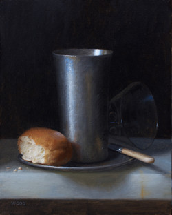 Silver Beaker and Bread