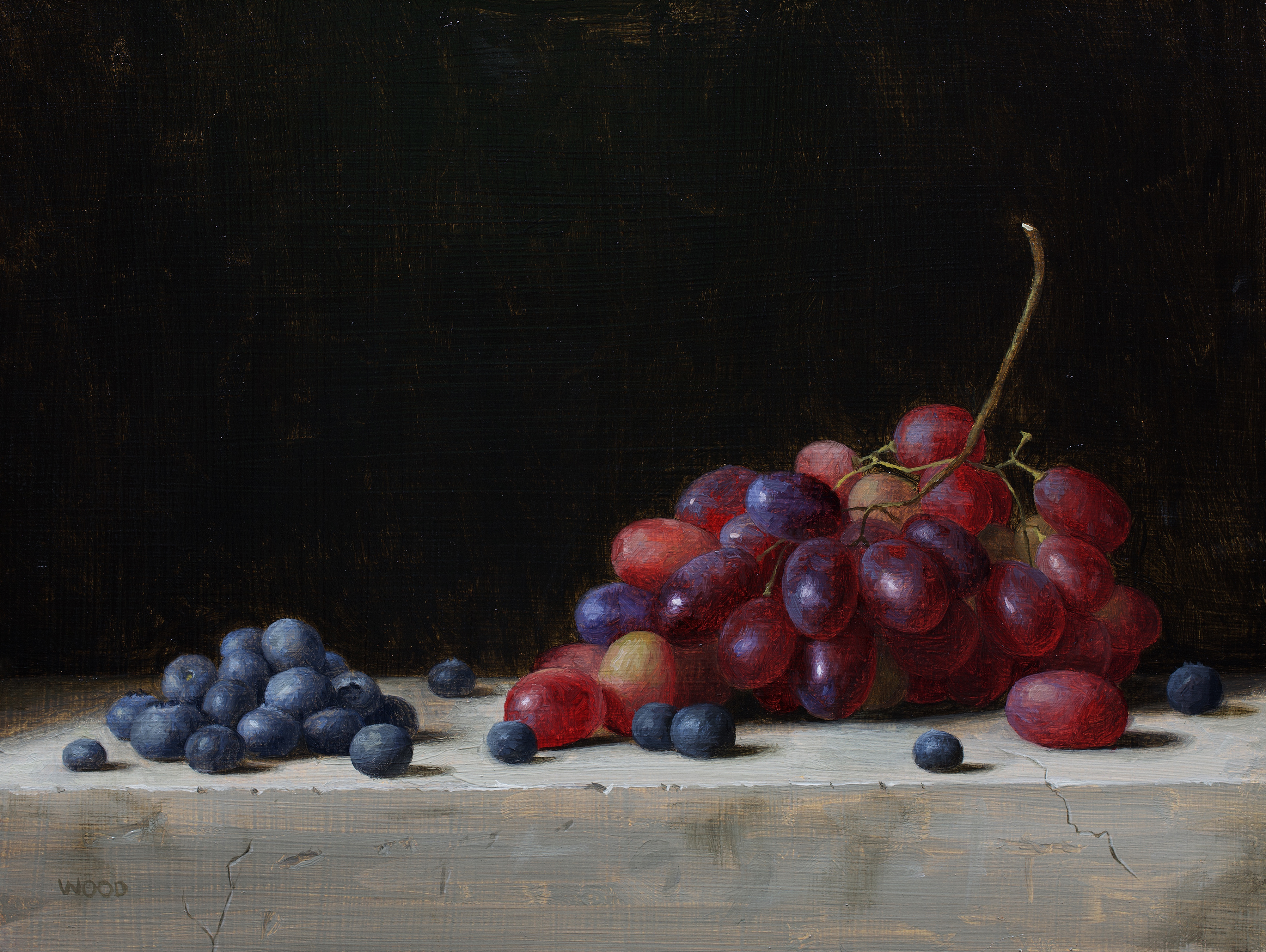 Grapes and Blueberries