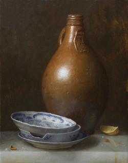 Bartmann Jug and Porcelain