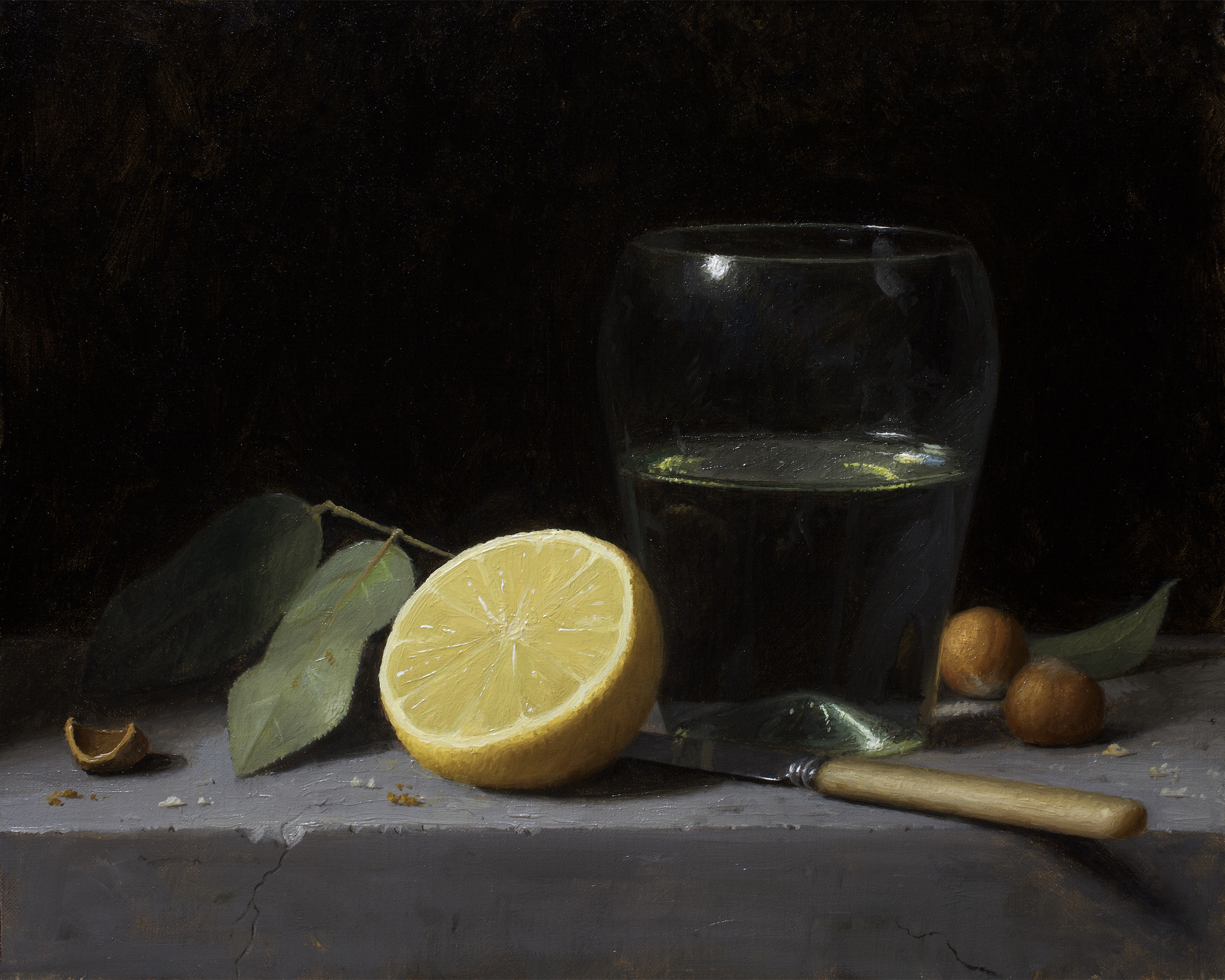 Lemon and Glass Cup