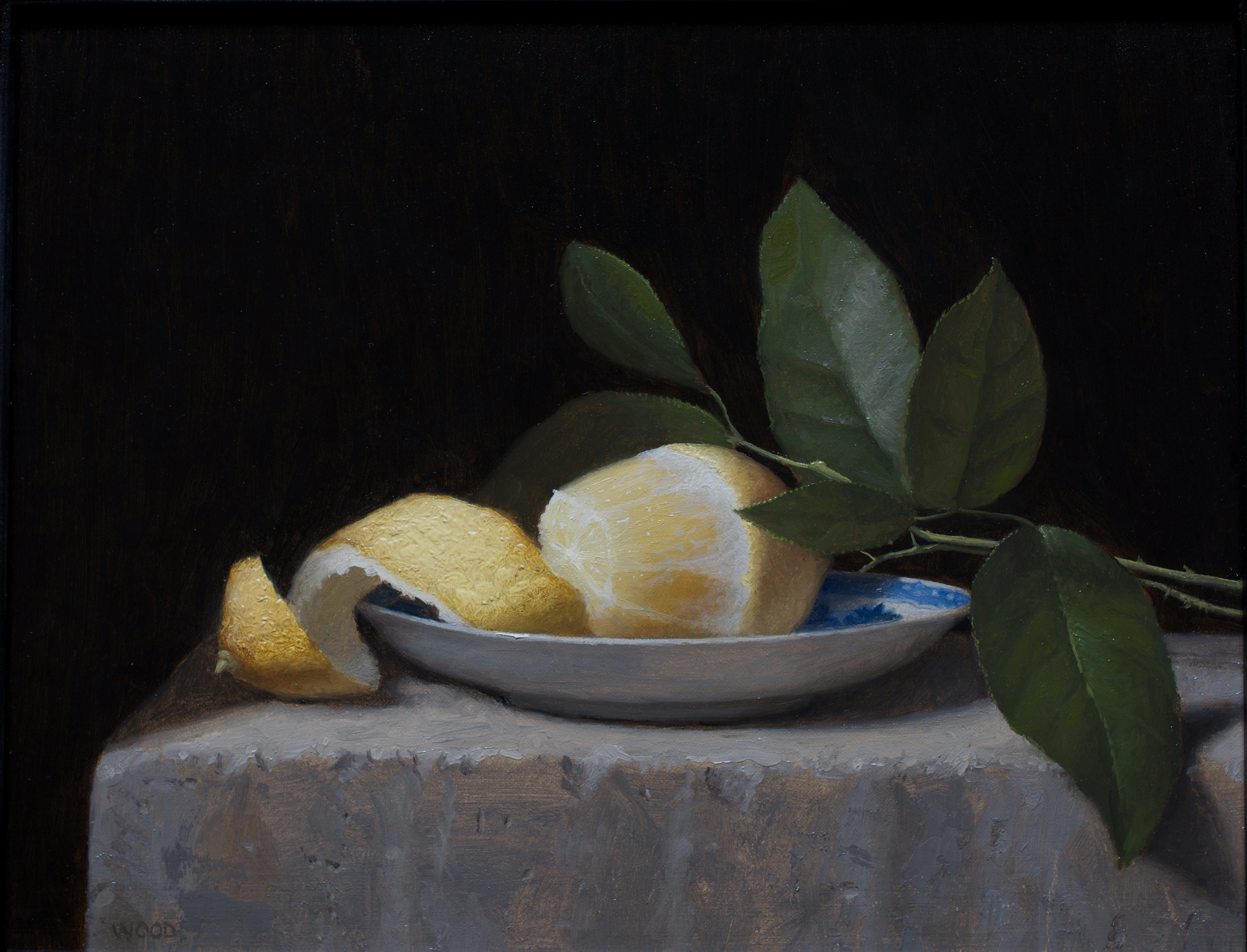 Lemon on Stone Plinth