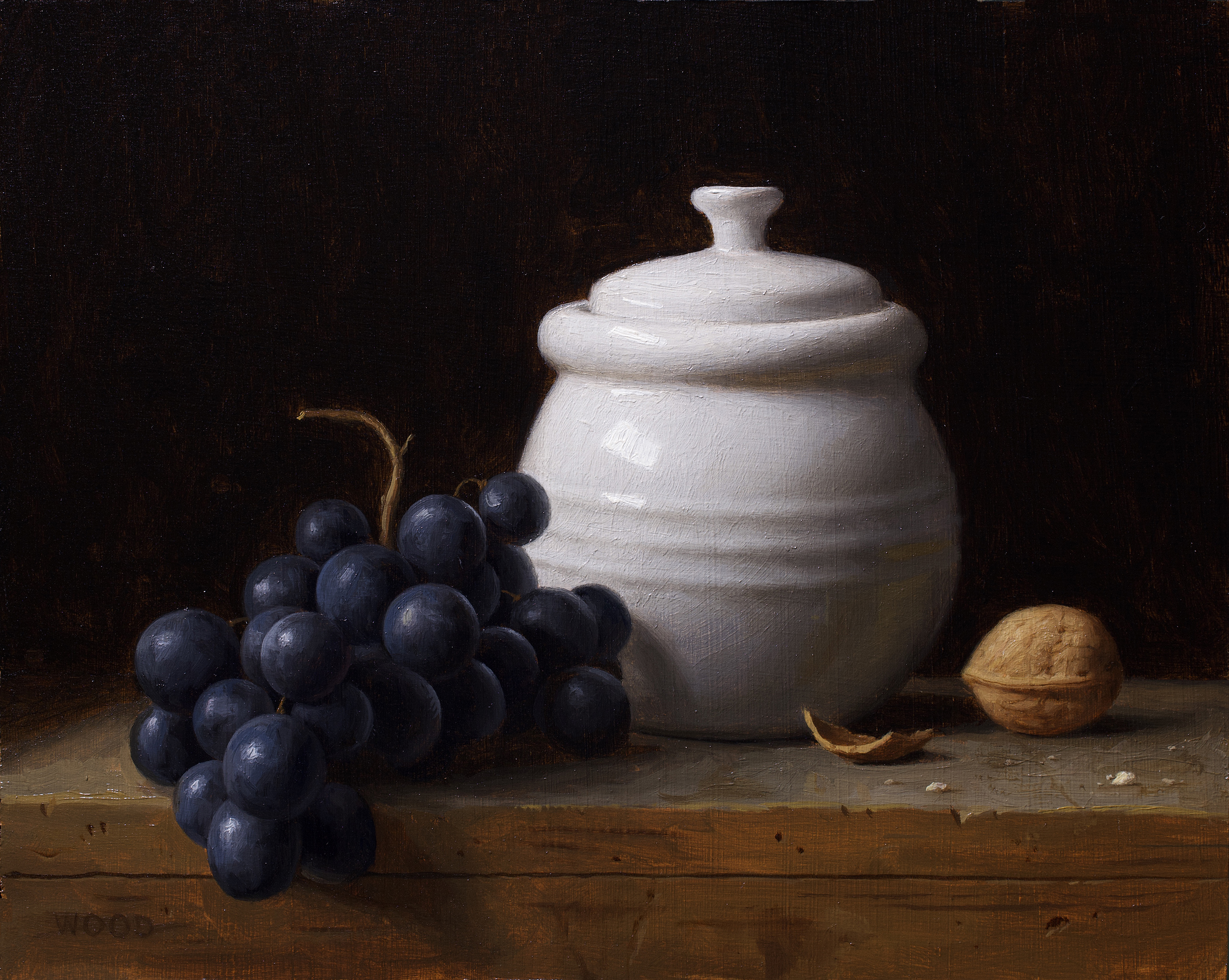 Jar and Grapes
