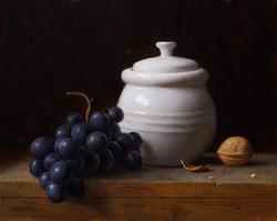 Jar and Grapes