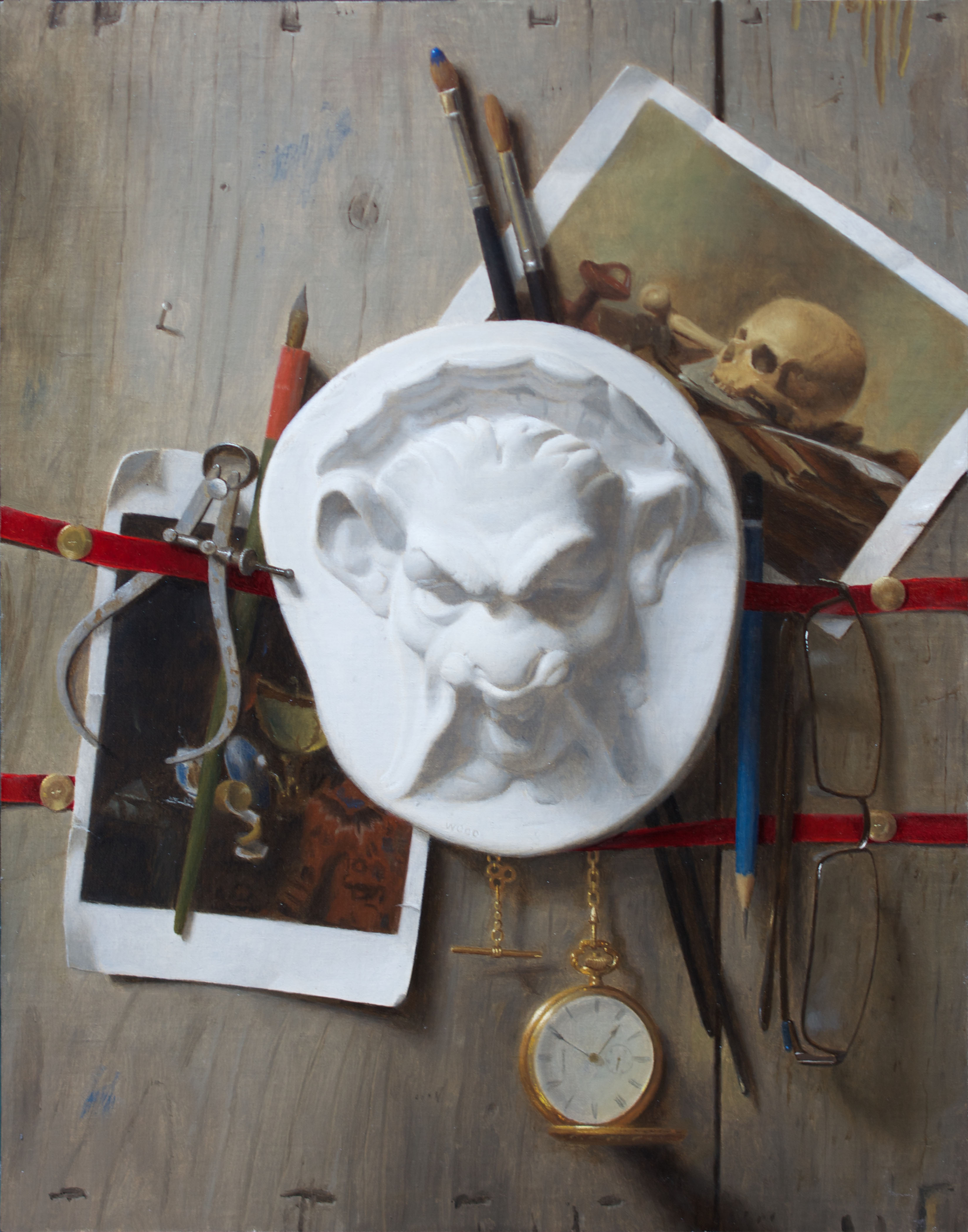 Trompe L'oeil with Grotesque
