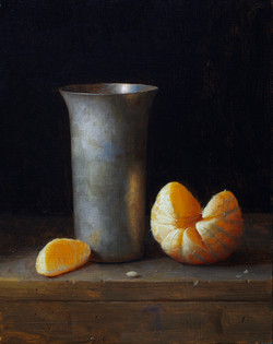 Silver Cup and Orange