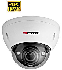 SPRO 12MP IP Motorised Lens Vandal Resis