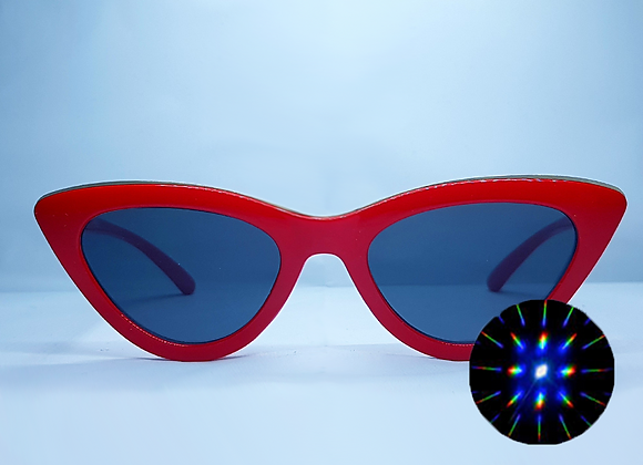 Cat Eye Rave Specs - Red