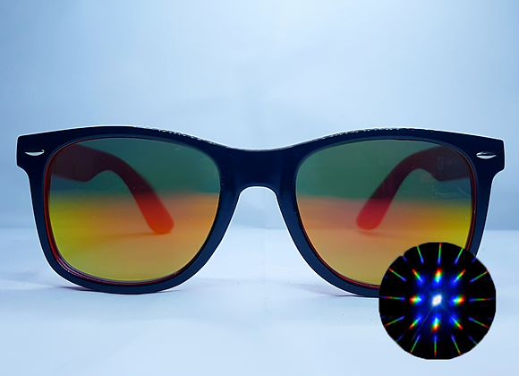 HAKKEN Rave Specs - Black w/ Orange Tint