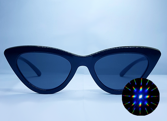 Cat Eye Rave Specs - Black