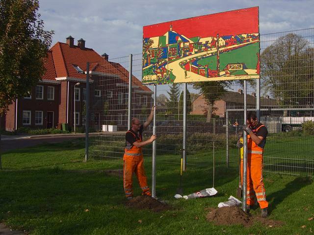 """Kunstpanelen """"Groeten uit Ridderkerk"""" geplaatst (Krant: """"De Combinatie 18/10"""" en"""