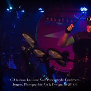 Optreden en CD release van de Dordtse band: La Lune Noir, in de Popcentrale.