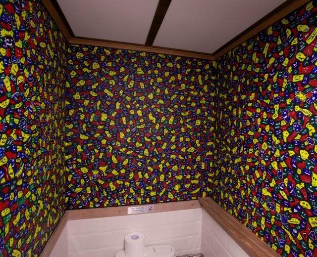 "Colorful ""Faces"" Toilet..."