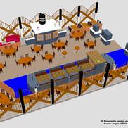 3D Ontwerp voor Kantine Stadskantoor Dordrecht