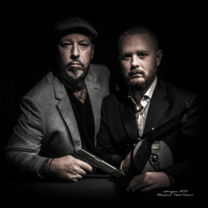 """Gangster-Shoot"". Portraits by ""Studio Neo Noir""."