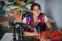 Reshma, a member of the Rajlaxmi Stitchi
