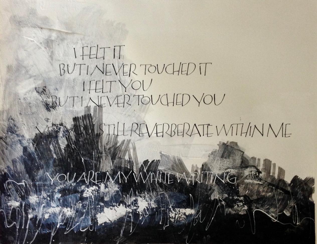White writing 1