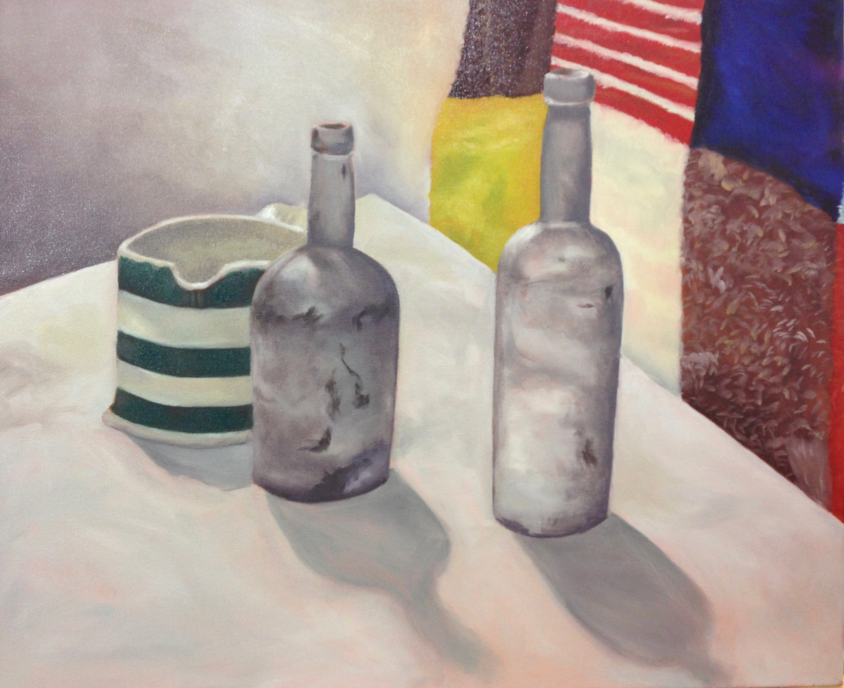 Two bottles and a jug