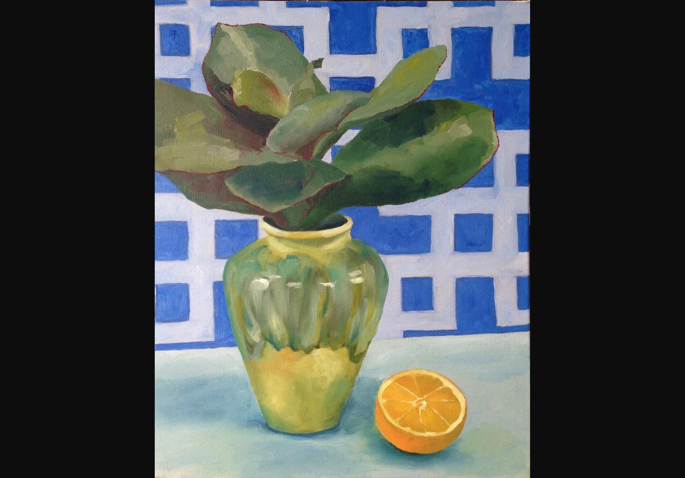 Succulent with orange