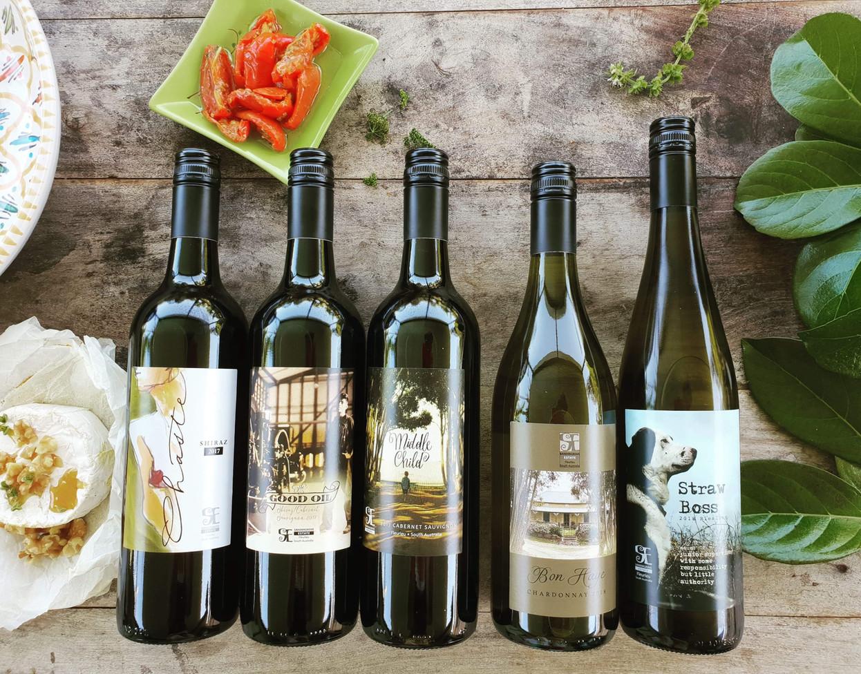 Sandergrove Estate wine labels
