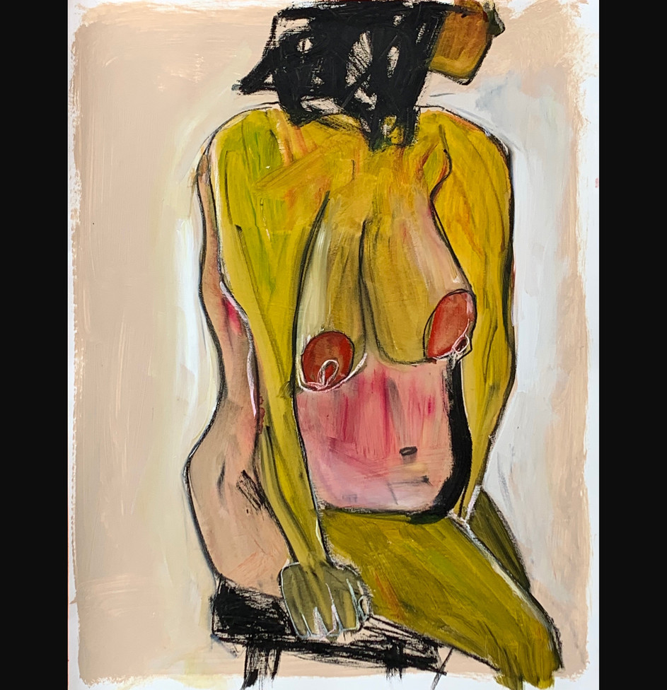 Nude with stool