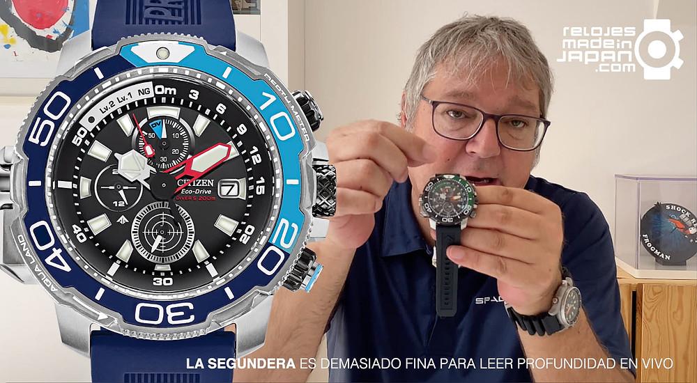 video analisis a fondo de los nuevos relojes de Citizen Promaster, los Aqualand con chrono, profundímetro y tecnología eco-drive solar