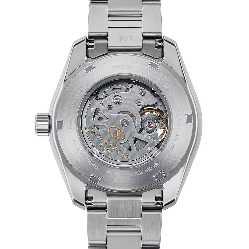 ORIENT STAR AVANT-GARDE RK-AV0A02S detalle ventana fondo reloj de zafiro reloj  automático