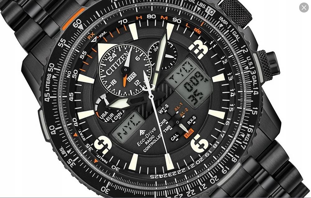 reloj citizen promaster skyhawk reloj todo negro armis ip negro