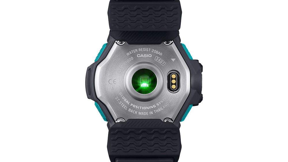 detalle fondo reloj sensor cardiaco GSR-H1000AS-1