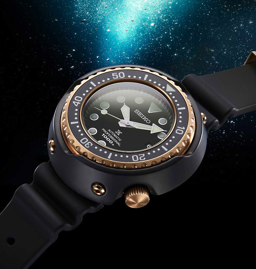 Detalle caja reloj 1.000 metros Seiko SLA042J1