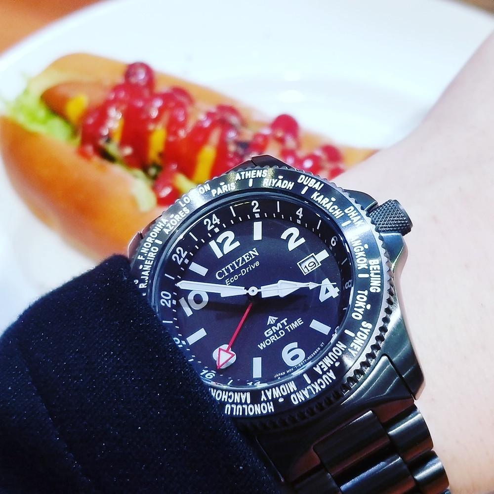Reloj japones acabado acero Ion Plated negro de Citizen watches