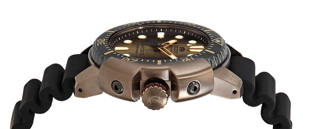 detalle-corona reloj divers orient m-force ref RA-AC0L05G00B