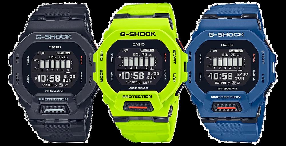 3 nuevos casio g-shock g-squad gbd-200