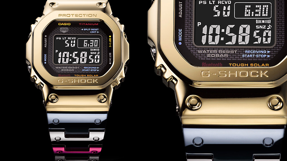 detalle bisel reloj nuevo full metal g-shock gmw-B5000tr-9