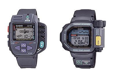Relojes casio digitales g100 y tsr100 de los 80