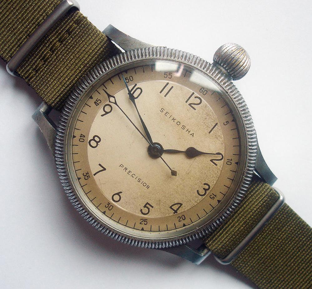 Reloj marca antecesora de Seiko, Seikosha especial guerra mundial