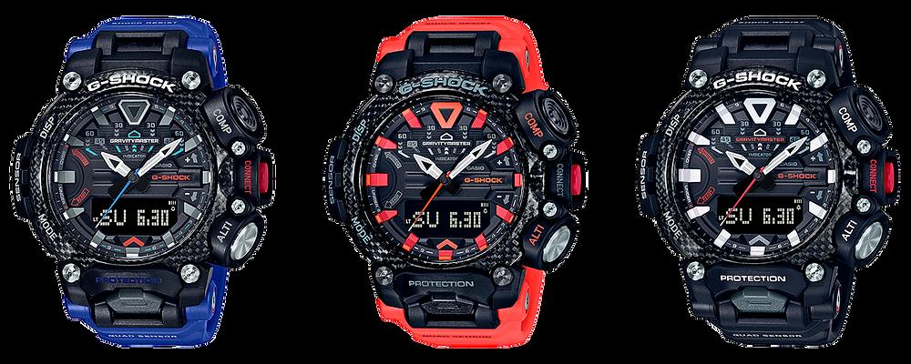nuevos relojes 2020 gravitymaster de casio, serie grb200
