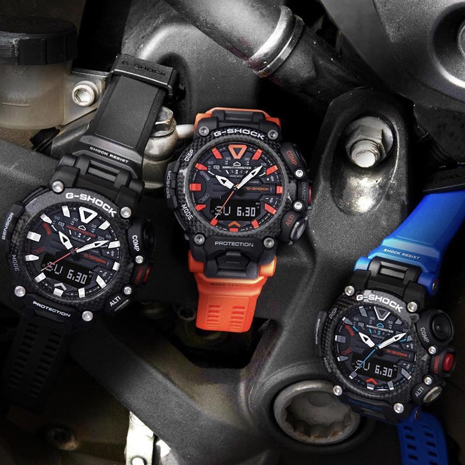 los nuevos relojes grb200 van equipados con caja carbon core guard