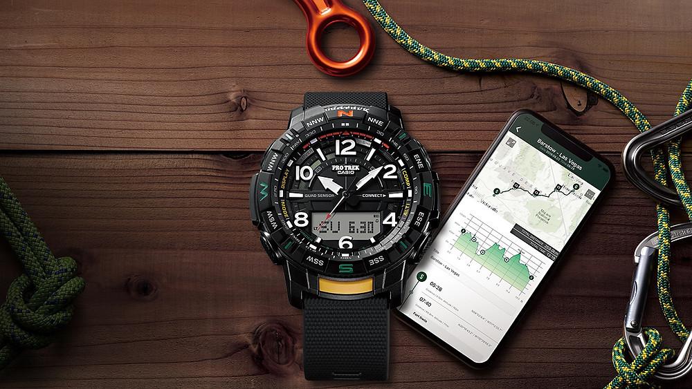 casio protrek reloj aventura bluetooth quadsensor prt-b50