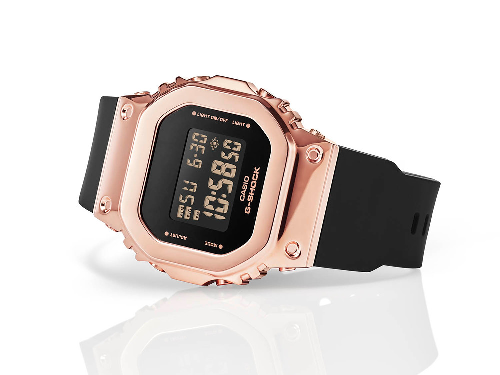 reloj oro rosa IP de Casio G-Shock GM-S5600PG-1