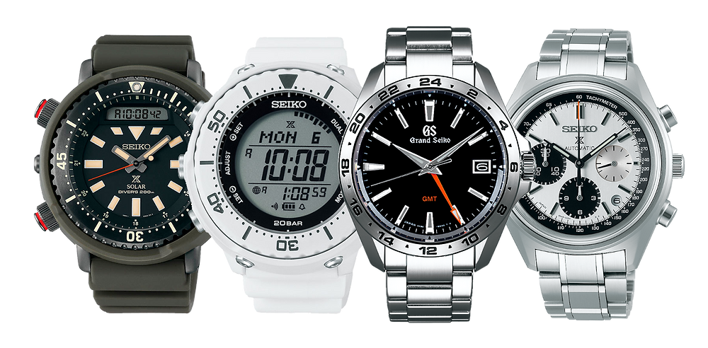 Relojes Seiko y Grand Seiko, imagenes promocionales mostrando hora 10:08