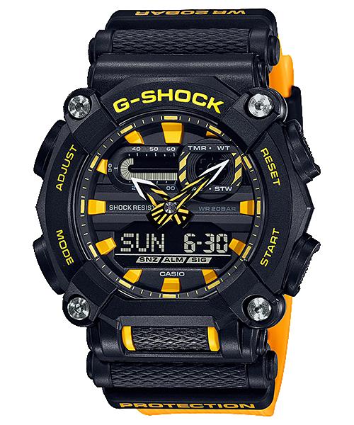 reloj amarillo y negro GA-900A-1A9  casio g-shock