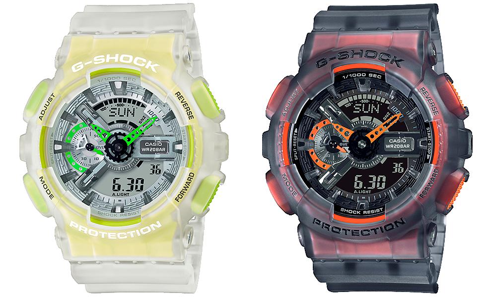 Novedades G-Shock GA-110LS-1A y GA-110LS-7A skeleton series