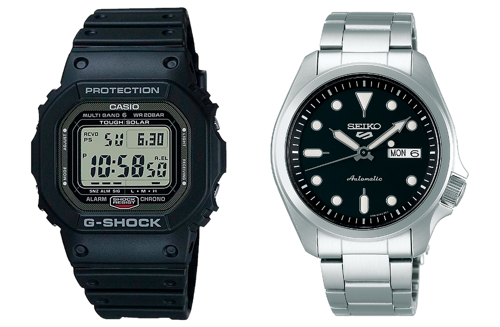 Comarativa relojes japoneses gw50001jf y seiko 5 SRPE53K1