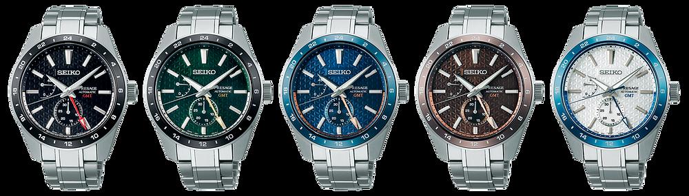 familia relojes Seiko presage sharp edged calibre gmt 6r64 lanzados 2021 SPB2